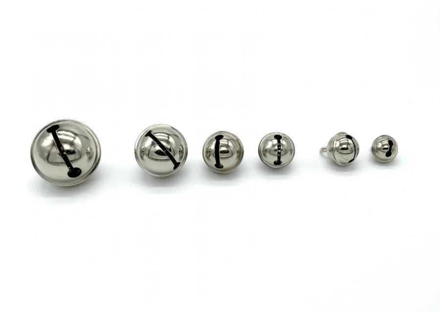 metalen belletjes zilver