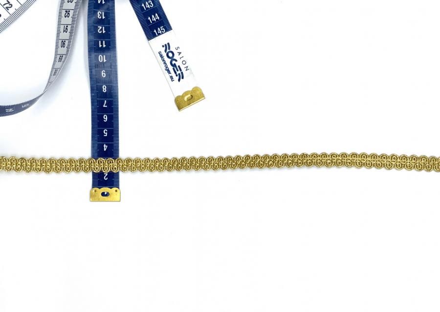Dubbel vlecht galon goud