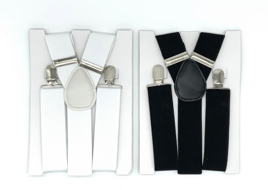 bretels wit en zwart